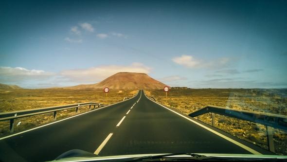 Tak wyglądają drogi na wyspie.